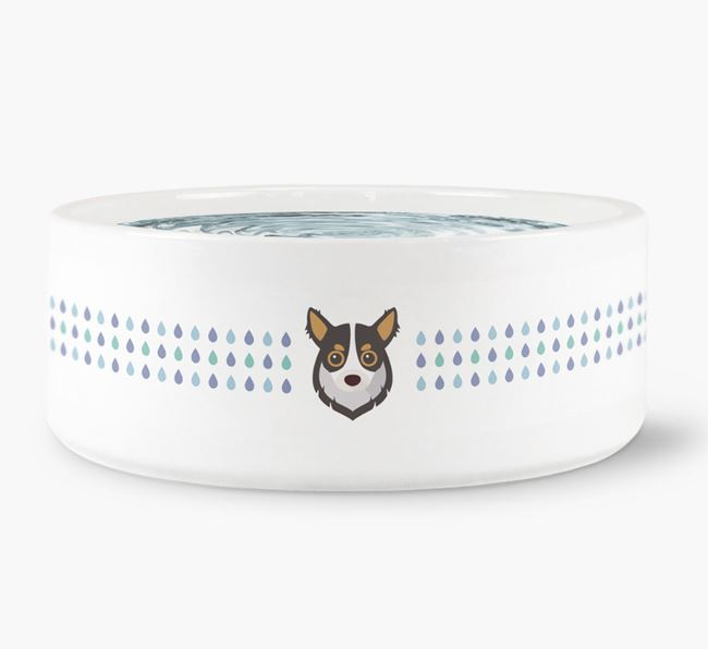 Droplets Water Bowl with Chihuahua Icon