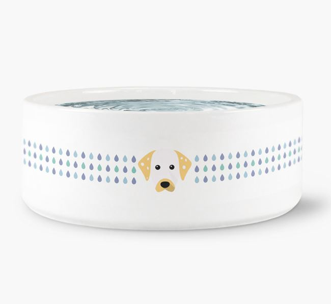 Droplets Water Bowl with Dalmatian Icon