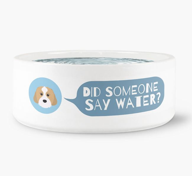 'Did someone say water?' Dog Bowl for your Cavachon
