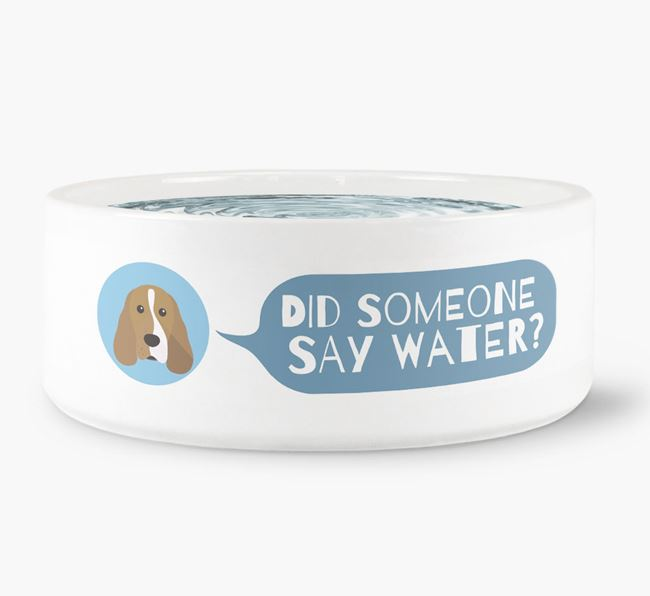 'Did someone say water?' Dog Bowl for your Cocker Spaniel