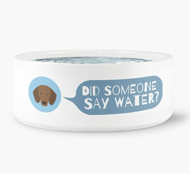 'Did someone say water?' Dog Bowl for your Dachshund