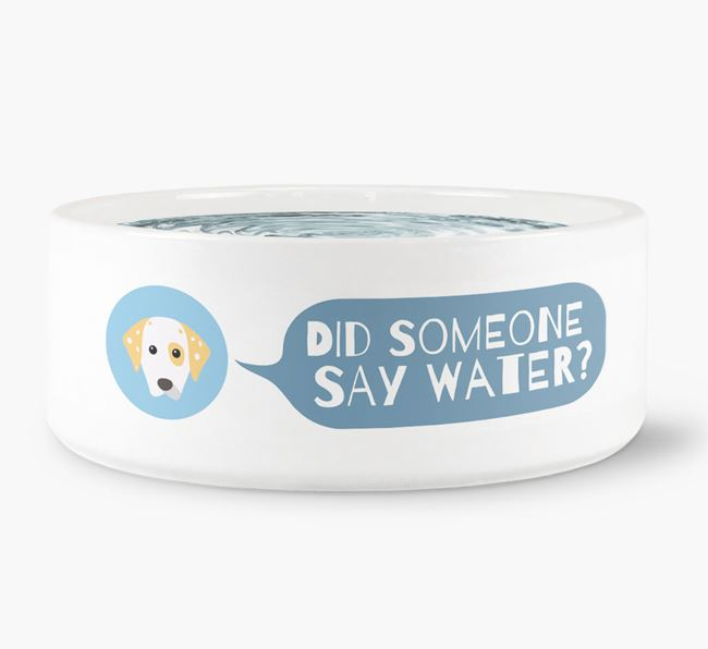 'Did someone say water?' Dog Bowl for your Dalmatian