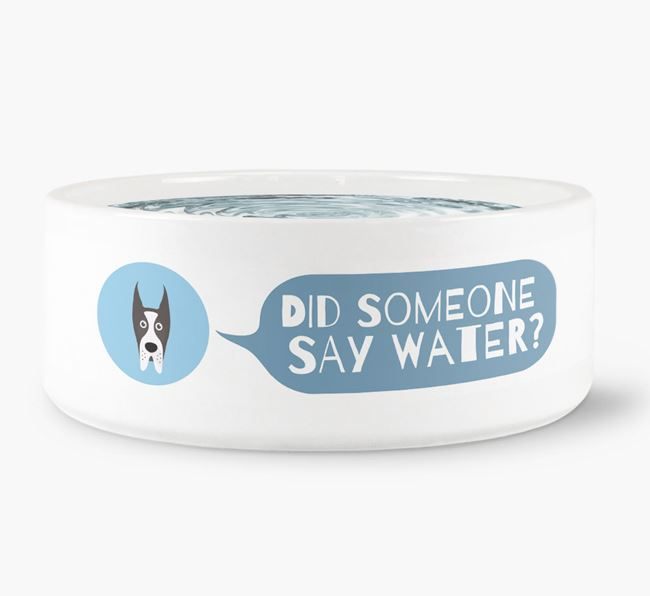 'Did someone say water?' Dog Bowl for your Great Dane