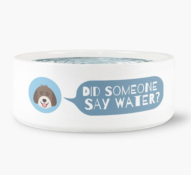 'Did someone say water?' Dog Bowl for your Labradoodle