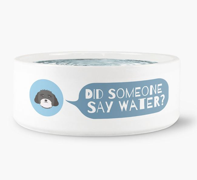 'Did someone say water?' Dog Bowl for your Lhasa Apso