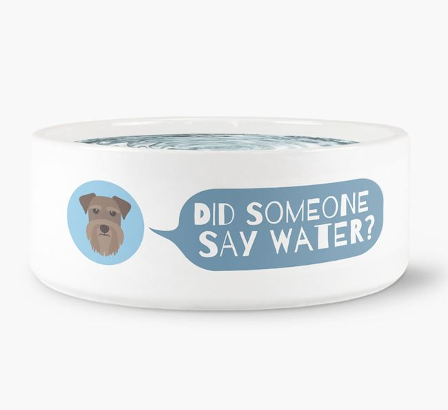 'Did someone say water?' Dog Bowl for your Schnauzer
