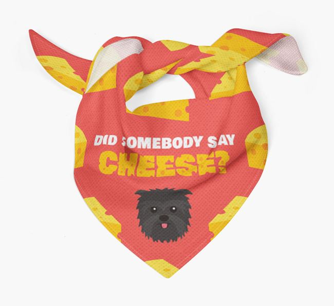 Cheese Bandana with Affenpinscher Icon