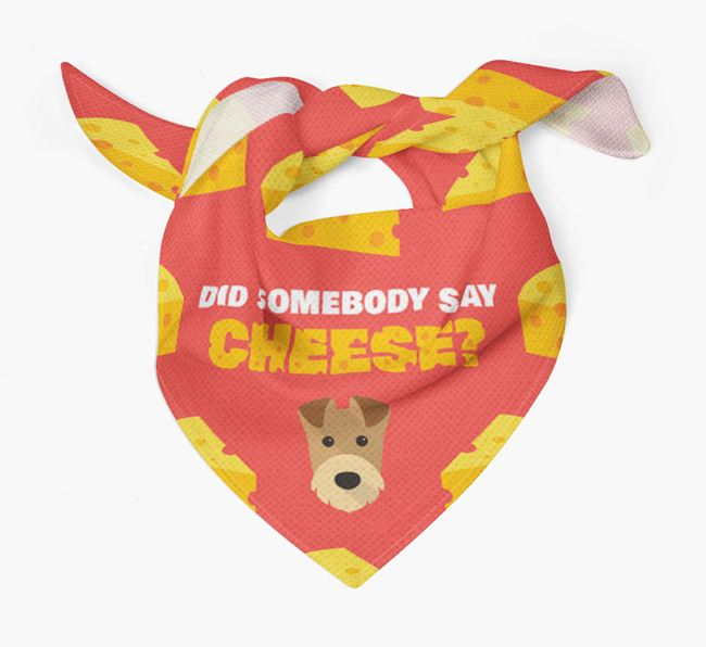 Cheese Bandana with Airedale Terrier Icon