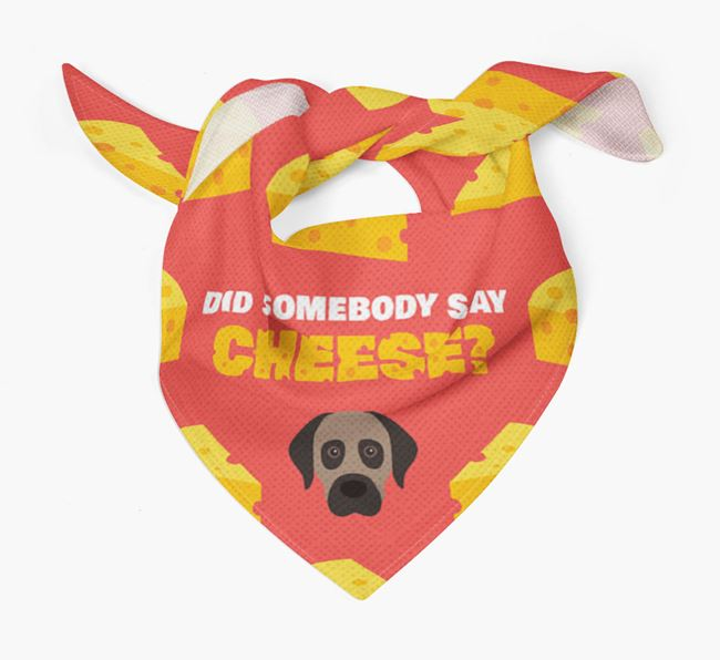 Cheese Bandana with Anatolian Shepherd Dog Icon