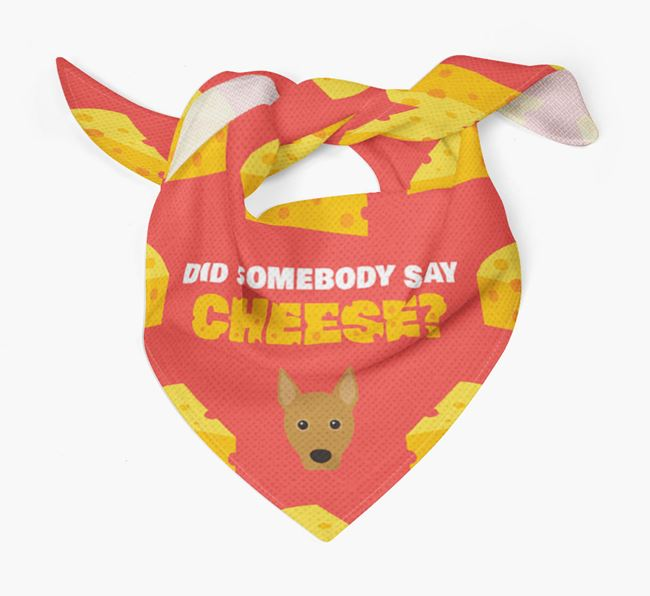 Cheese Bandana with Basenji Icon