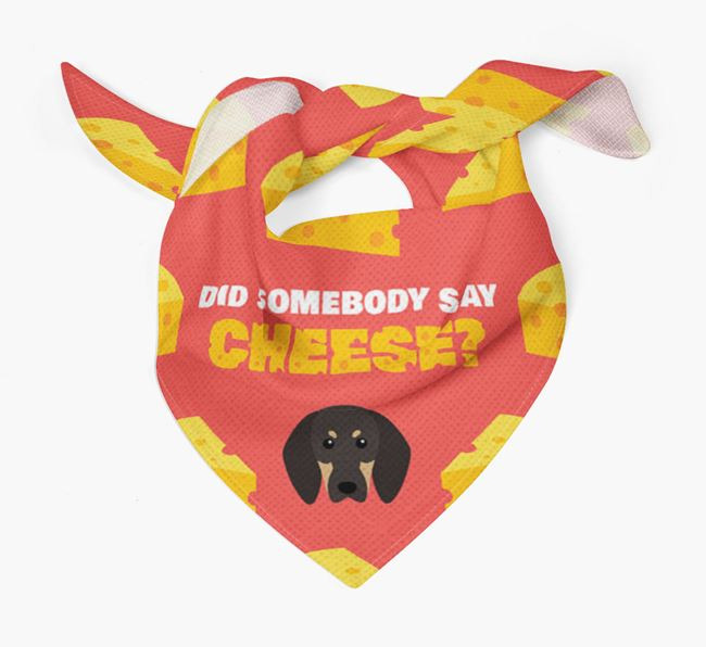Cheese Bandana with Black and Tan Coonhound Icon