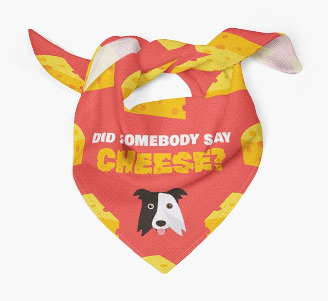Cheese Bandana with Border Collie Icon