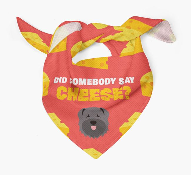 Cheese Bandana with Bouvier Des Flandres Icon
