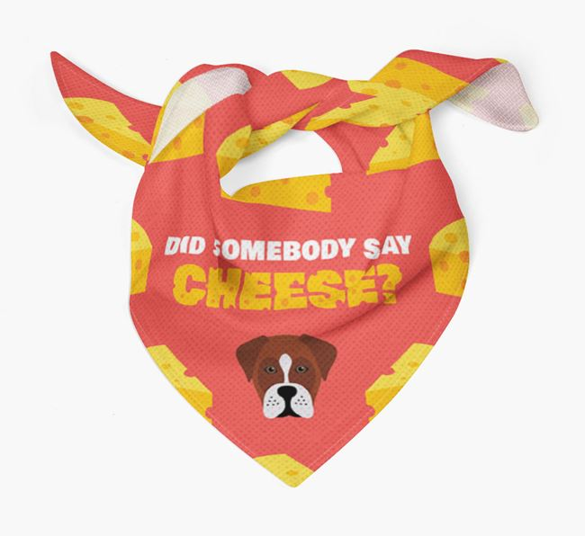 Cheese Bandana with Boxador Icon