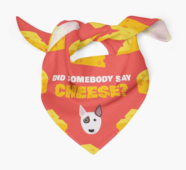 Cheese Bandana with Bull Terrier Icon