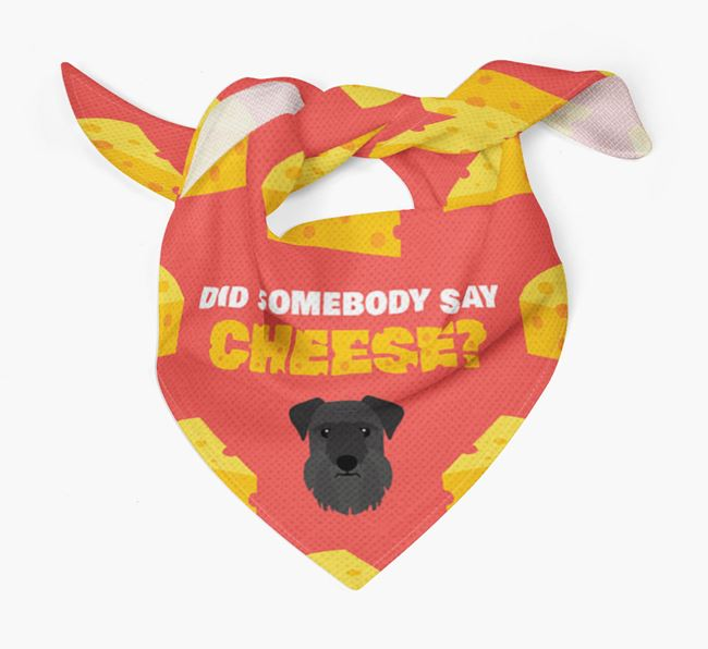 Cheese Bandana with Cesky Terrier Icon