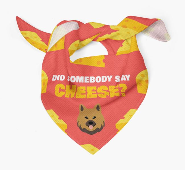 Cheese Bandana with Chow Shepherd Icon