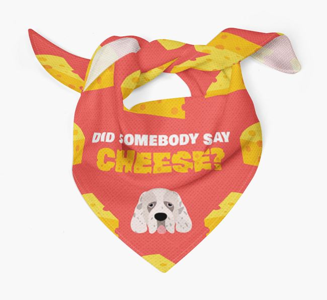 Cheese Bandana with Clumber Spaniel Icon