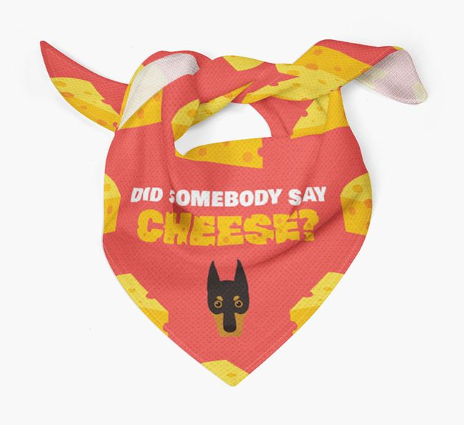 Cheese Bandana with Dobermann Icon