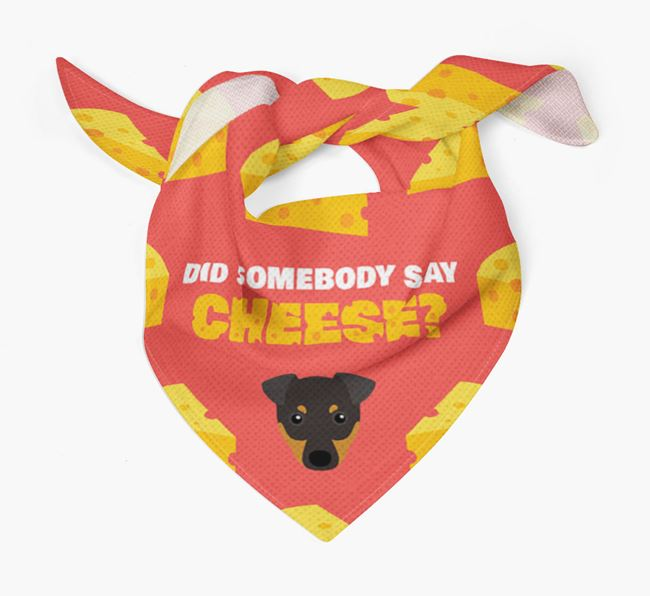 Cheese Bandana with English Toy Terrier Icon