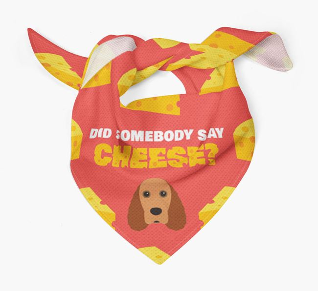 Cheese Bandana with Field Spaniel Icon