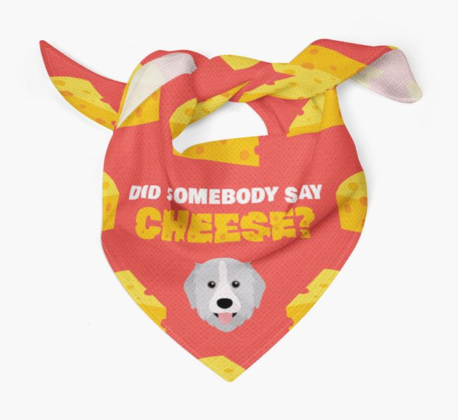 Cheese Bandana with Great Pyrenees Icon