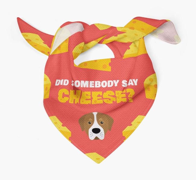 Cheese Bandana with Greater Swiss Mountain Dog Icon