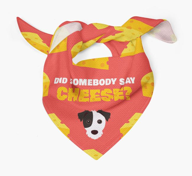 Cheese Bandana with Jack Russell Terrier Icon
