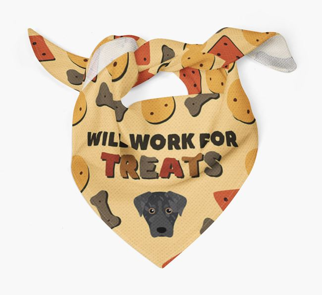 'Work For Treats' Bandana with American Leopard Hound Icon