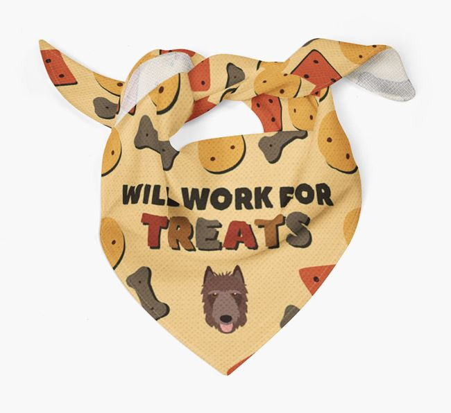 'Work For Treats' Bandana with Belgian Laekenois Icon