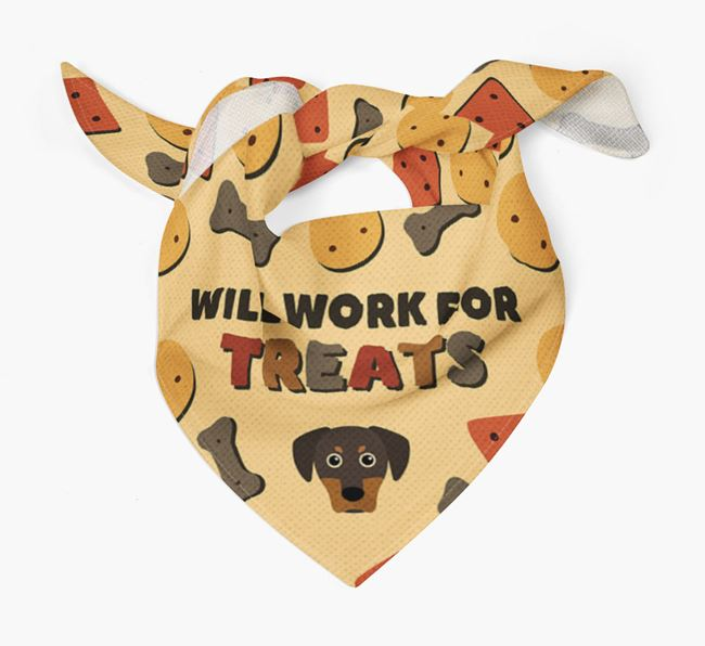 'Work For Treats' Bandana with Blue Lacy Icon