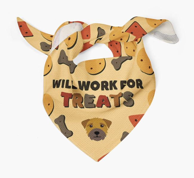 'Work For Treats' Bandana with Border Terrier Icon
