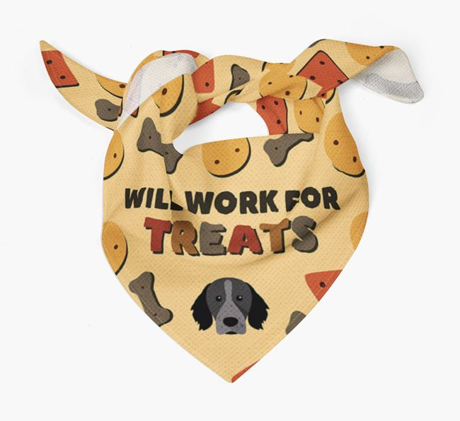 'Work For Treats' Bandana with Brittany Icon