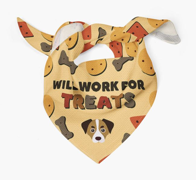 'Work For Treats' Bandana with Cheagle Icon
