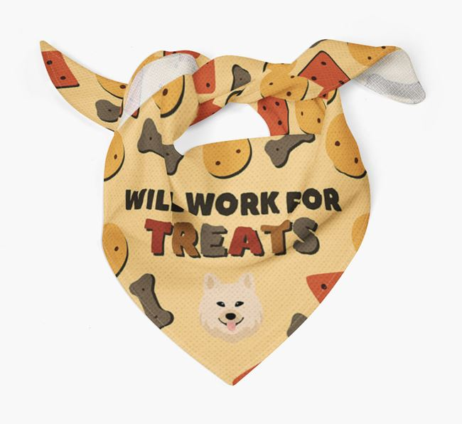 'Work For Treats' Bandana with Chow Shepherd Icon