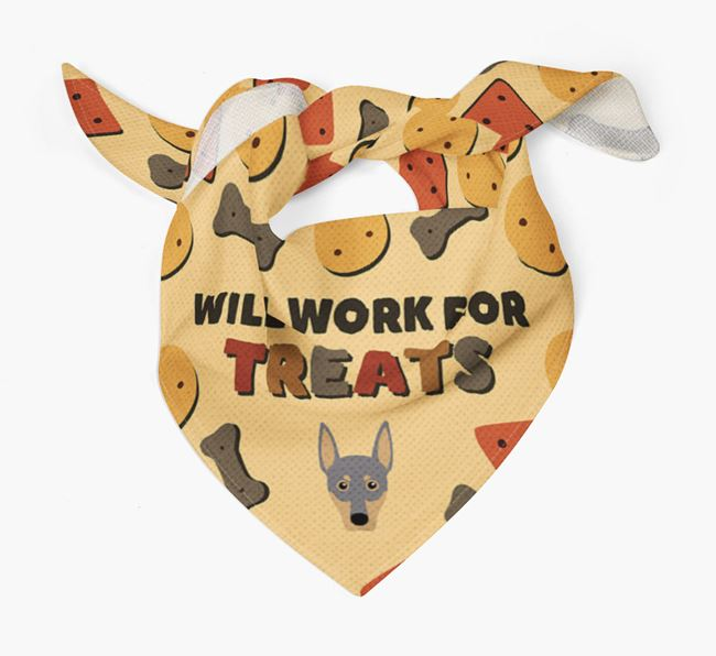 'Work For Treats' Bandana with German Pinscher Icon