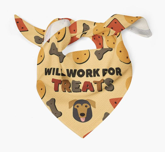 'Work For Treats' Bandana with German Sheprador Icon