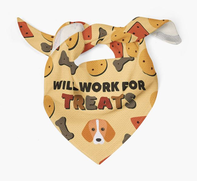 'Work For Treats' Bandana with Harrier Icon