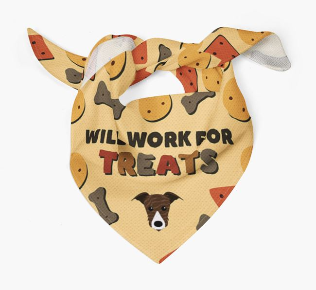 'Work For Treats' Bandana with Lurcher Icon