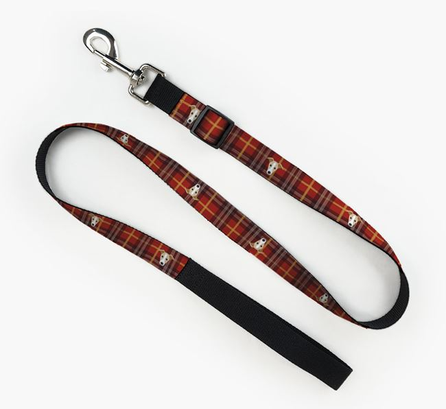 Fabric Lead with Tartarn Pattern and Dog Icon