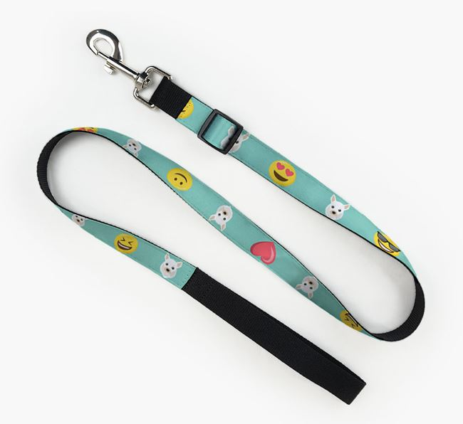 Fabric Lead with Emojis and Chihuahua Icon