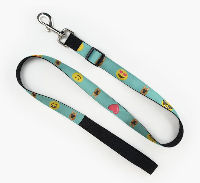 Fabric Lead with Emojis and Dog Icon