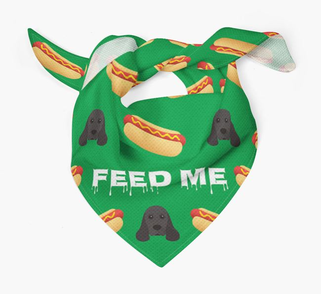 'Feed Me' Hotdogs Bandana with American Cocker Spaniel Icons