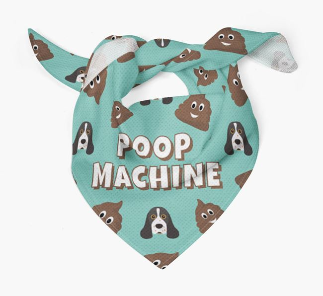 'Poop Machine' Bandana with American Cocker Spaniel Icons