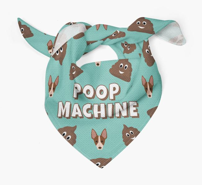 'Poop Machine' Bandana with American Hairless Terrier Icons