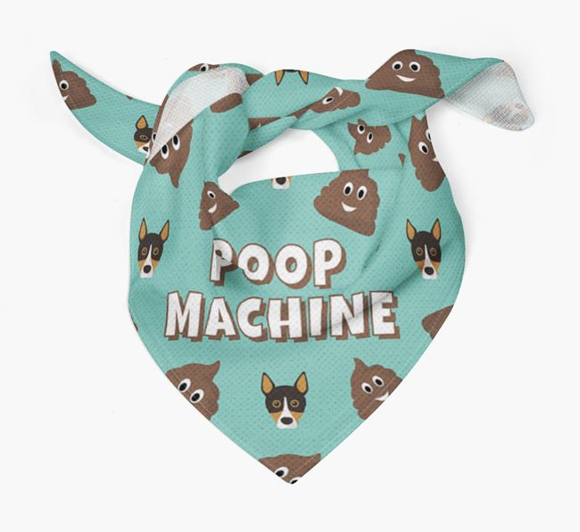 'Poop Machine' Bandana with Basenji Icons