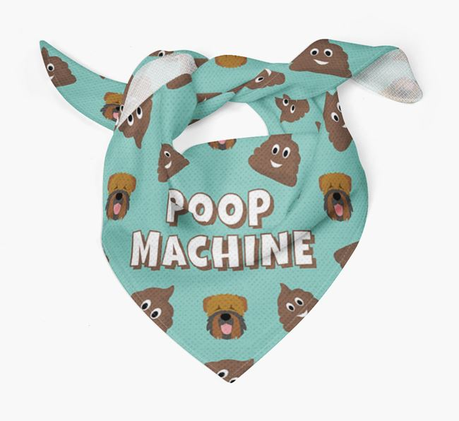 'Poop Machine' Bandana with Black Russian Terrier Icons
