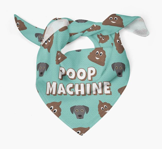 'Poop Machine' Bandana with Blue Lacy Icons