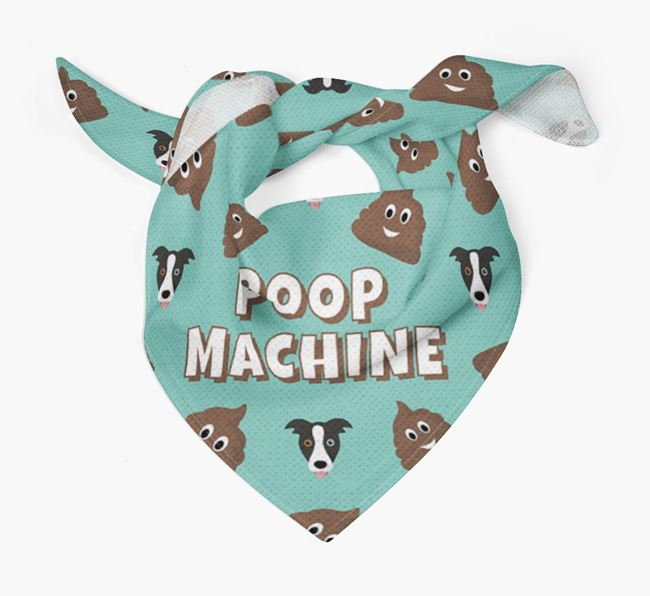 'Poop Machine' Bandana with Border Collie Icons