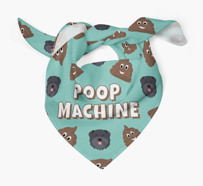 'Poop Machine' Bandana with Bouvier Des Flandres Icons